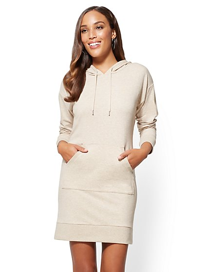 Soho Street - Hooded Sweatshirt Dress - New York & Company