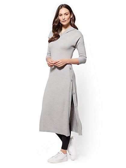 Soho Street - Hooded Tunic Sweater - New York & Company