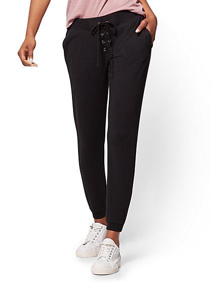 Soho Street - Lace-Up Slim Jogger Pant  - New York & Company