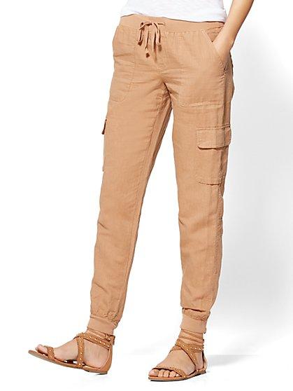 Soho Street Linen Cargo Pant - New York & Company