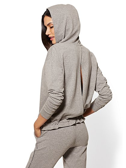 Soho Street - Split-Back Hooded Sweatshirt - New York & Company