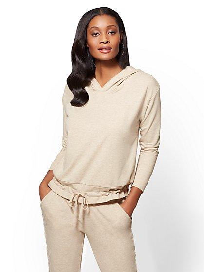 Soho Street - Split-Back Hooded Sweatshirt - New York & Company