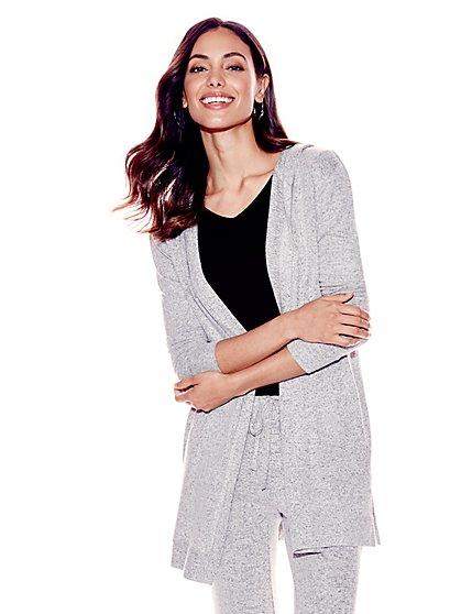 Soho Street - Super-Soft Knit Hooded Cardigan - New York & Company