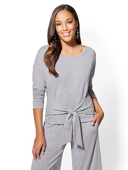 Soho Street - Tie-Front Sweatshirt - New York & Company
