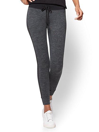 Soho Street - Yoga Legging - Black & White Space Dye  - New York & Company