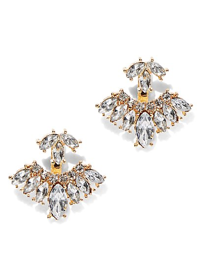 Sparking 2-Row Post Earring  - New York & Company