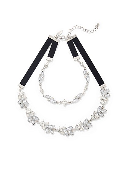 Sparkling 2-Row Choker Necklace - New York & Company