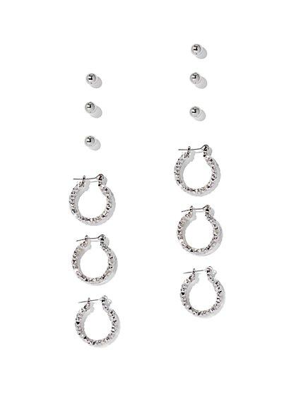 Sparkling 6-Piece Earring Set - New York & Company