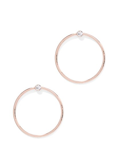 Sparkling Accent Hoop Earring  - New York & Company