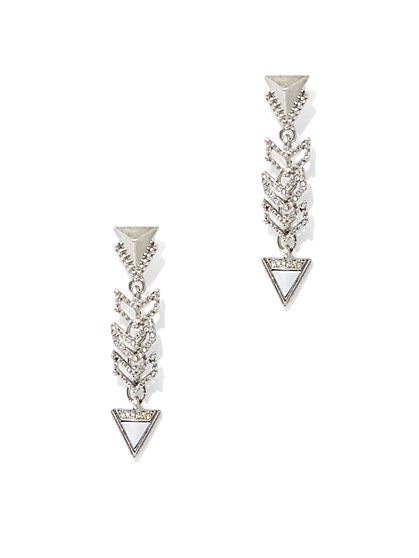 Sparkling Arrow Drop Earring - New York & Company