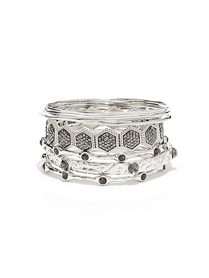 Sparkling Bangle Bracelet Set  - New York & Company