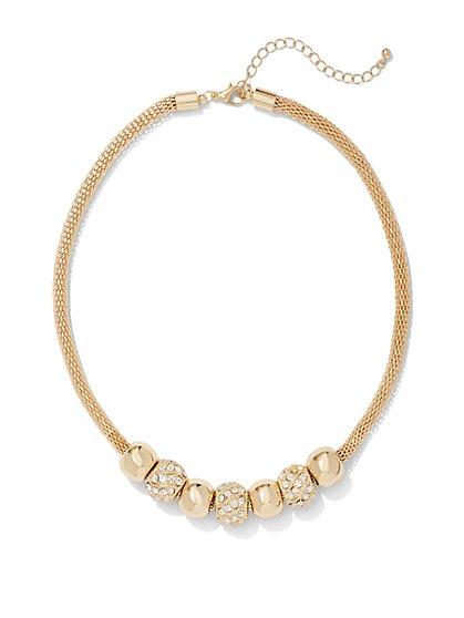 Sparkling Beaded Necklace - New York & Company