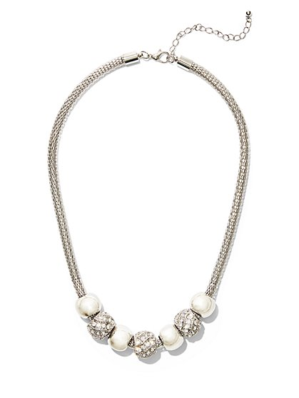 Sparkling Beaded Necklace  - New York & Company