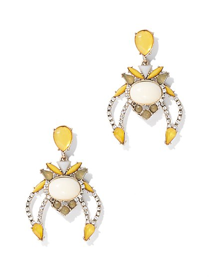 Sparkling Beading Drop Earring - New York & Company
