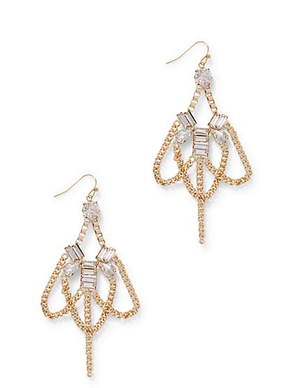 Sparkling Chain-Link Drop Earring - New York & Company