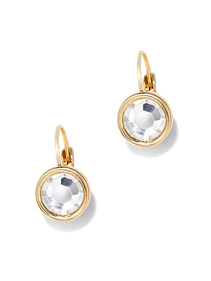 Sparkling Circular Drop Earrings  - New York & Company