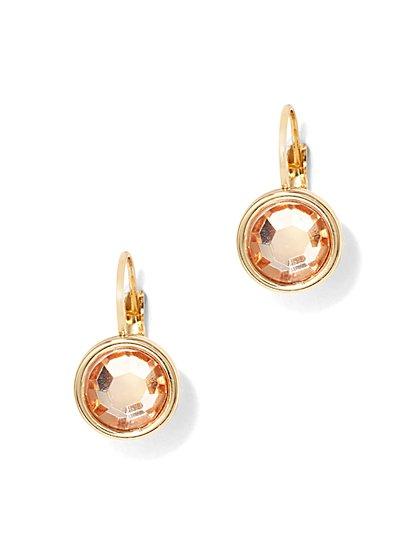 Sparkling Circular Drop Earrings  - New York & Company