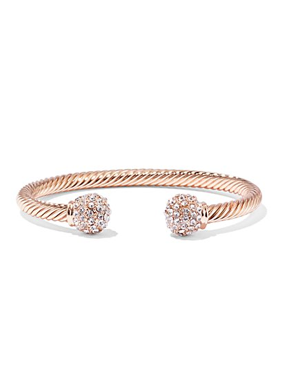 Sparkling Coil Cuff Bracelet  - New York & Company
