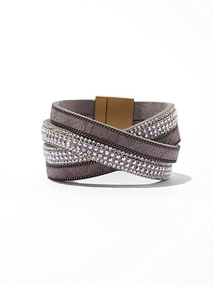 Sparkling Crisscross Cuff Bracelet  - New York & Company