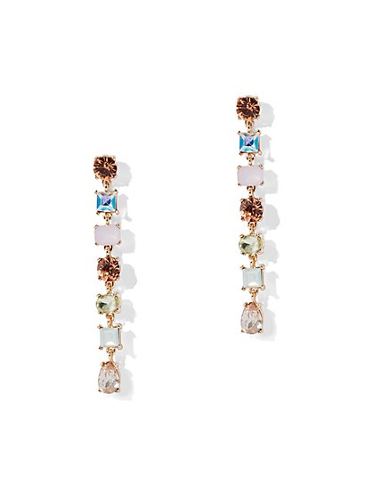 Sparkling Crystal Linear Earring - New York & Company