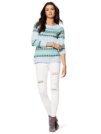 Sparkling Double Fair Isle Sweater - New York & Company