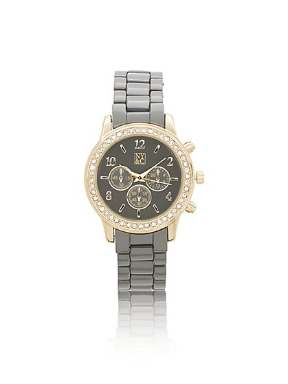 Sparkling Enamel Link Watch - New York & Company