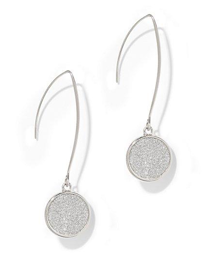 Sparkling Faux-Druzy Drop Earring  - New York & Company