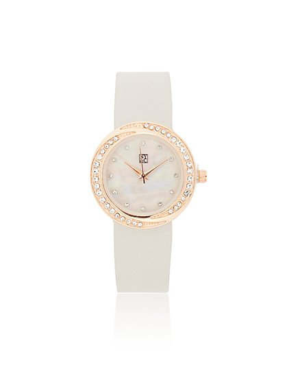 Sparkling Faux-Leather Band Watch - New York & Company