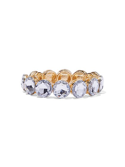 Sparkling Faux-Stone Stretch Bracelet  - New York & Company