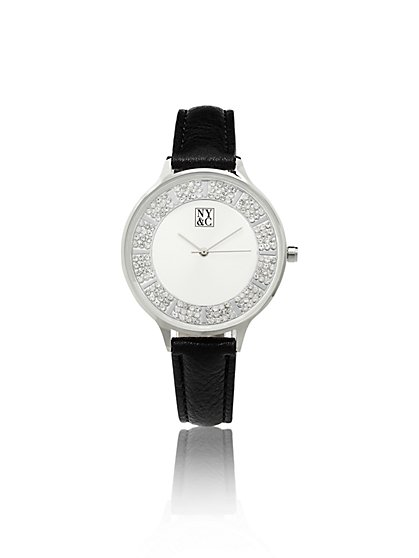 Sparkling Faux-Stone Watch  - New York & Company