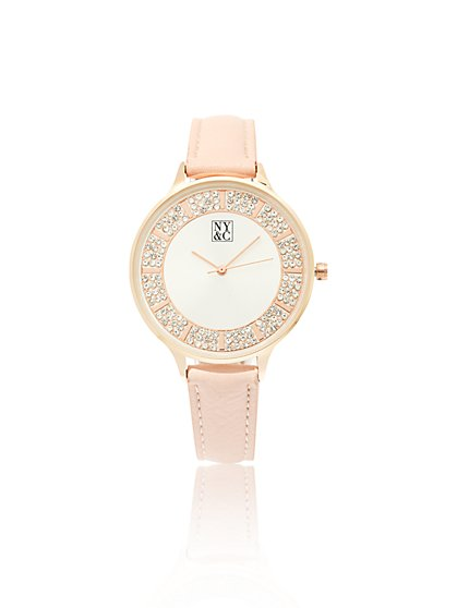 Sparkling Faux-Stone Watch - New York & Company