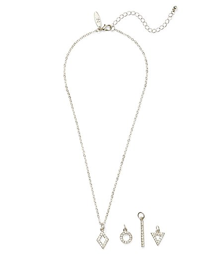 Sparkling Geo Pendant Necklace  - New York & Company