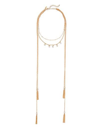 Sparkling Goldtone Layered Necklace - New York & Company