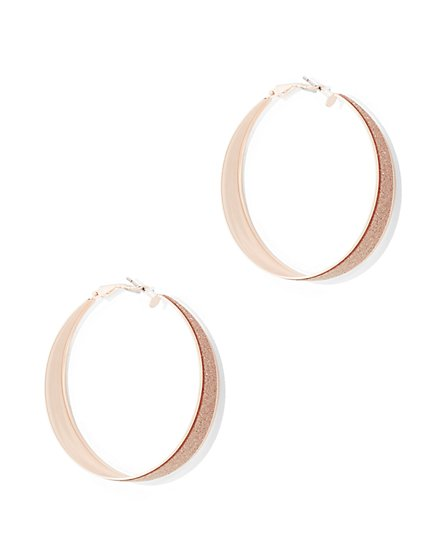 Sparkling Hoop Earring  - New York & Company