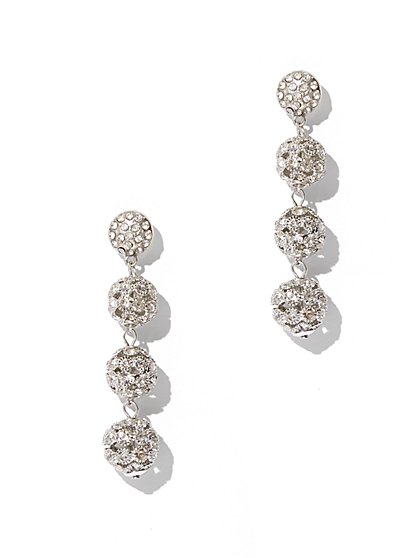 Sparkling Linear Drop Earring - New York & Company