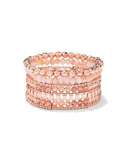 Sparkling Multi-Row Beaded Bracelet - New York & Company