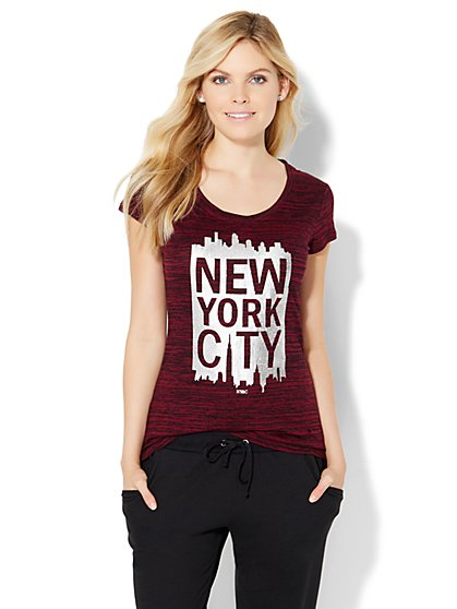 "Sparkling ""New York City"" Logo Tee  - New York & Company"