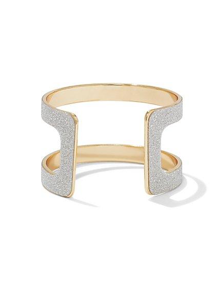 Sparkling Open Cuff Bracelet  - New York & Company