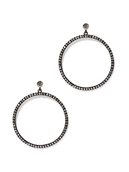 Sparkling Pave Hoop Earring  - New York & Company