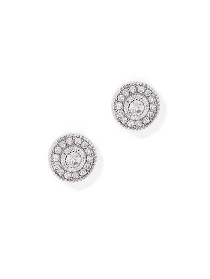 Sparkling Pave Post Earring - New York & Company