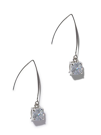 Sparkling Silvertone Drop Earring - New York & Company