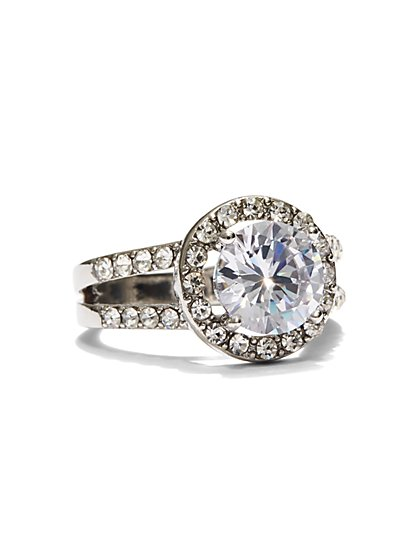 Sparkling Silvertone Ring - New York & Company