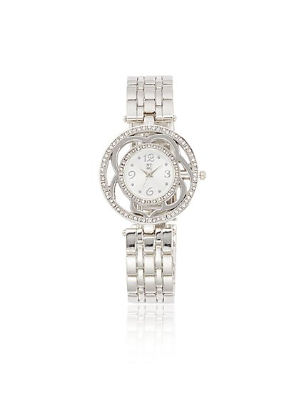 Sparkling Silvertone Watch - New York & Company
