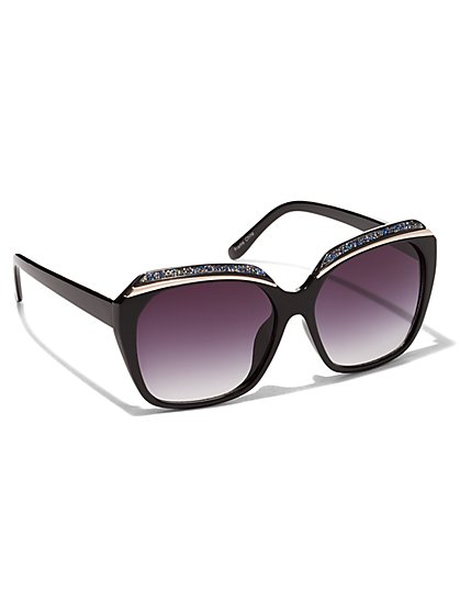 Sparkling Square-Frame Sunglasses - New York & Company
