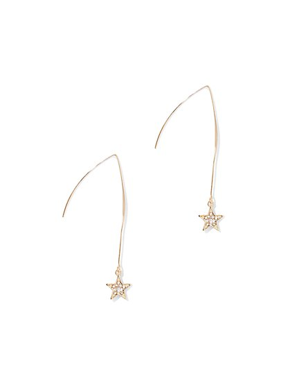 Sparkling Star Drop Earring  - New York & Company