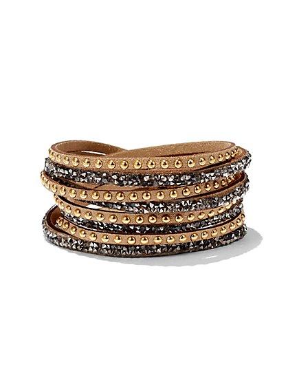 Sparkling Studded Wrap Bracelet  - New York & Company