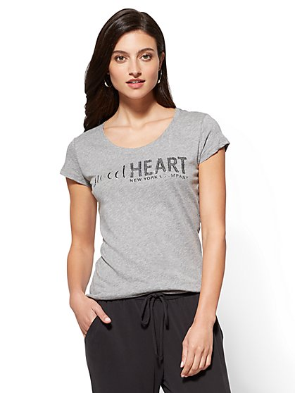 "Sparkling ""Sweetheart"" Graphic Logo Tee - New York & Company"