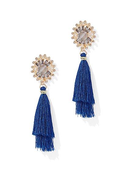 Sparkling Tassel Drop Earring - New York & Company