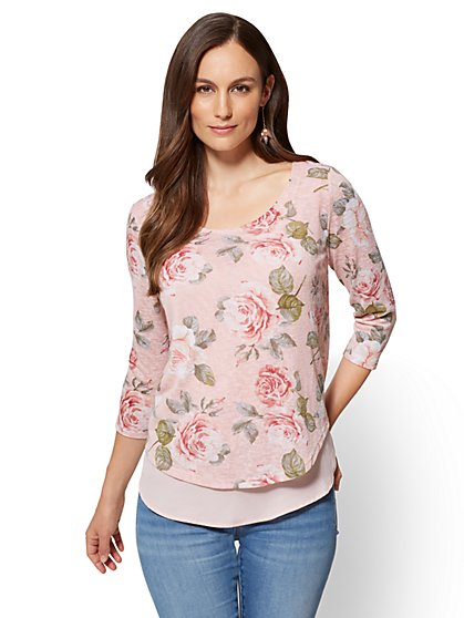 Split-Back Twofer Sweater  - New York & Company