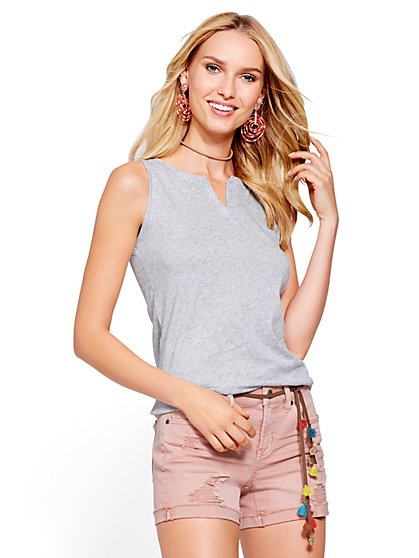 Split-Neck Tank Top - New York & Company